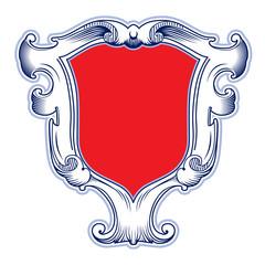 vintage ribbon shield