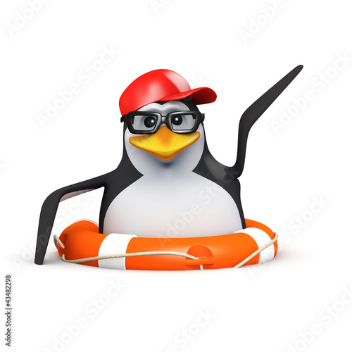 3d Penguin in baseball is rescued