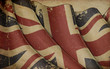 UK Flag Old Paper