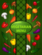 vegetarian green menu. organic food
