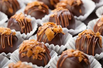 Dark chocolates candies
