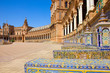 benches of  Plaza de Espana, Seville, Spain