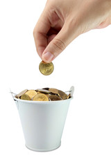 Increase your savings-Hand holding coins