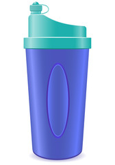 shaker bottle for fitness illustration