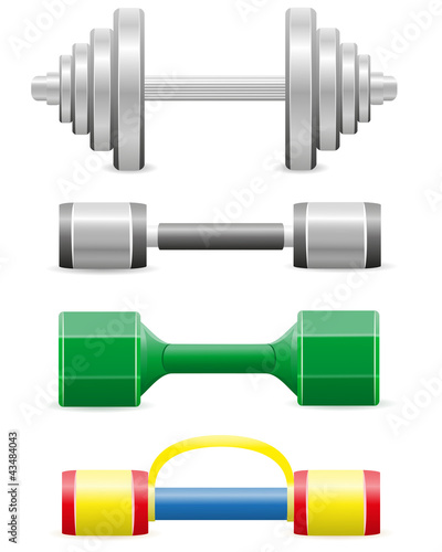 dumbbells for fitness illustration