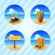 vector beach item set