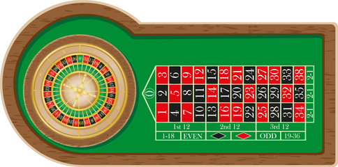 roulette casino illustration