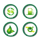 eco green icon / button