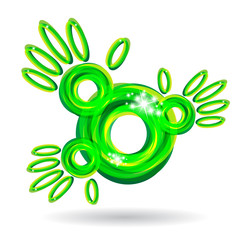 green abstract hands icon