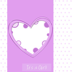 it's a girl - baby shower - cuore rosa