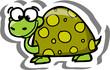 Постер, плакат: Черепаха мультфильм вектор