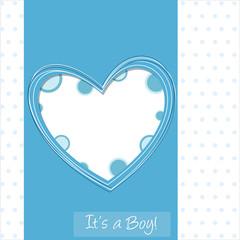 it's a boy - baby shower - cuore azzurro