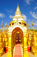 Top five hundred pagodas at beautiful in the Wat pasawangboon Sa