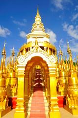 Top five hundred pagodas at beautiful in the Wat pasawangboon Sa