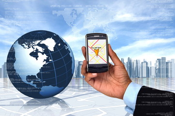Global Positioning System (GPS) in a smart phone
