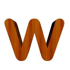 3d Font Wood Letter F