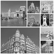 collage with landmarks of indian city Mumbai (formerly Bombay )