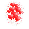 Red Heart Balloons White