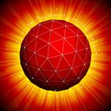 polygonal sphere poster
