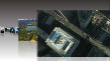 Montage of 3D tablet images of the American Continent, USA