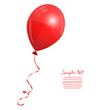 Fototapety Single Red Balloon