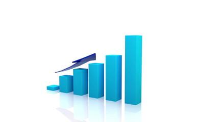business graph blue arrow full hd