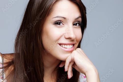 friendly smiling woman