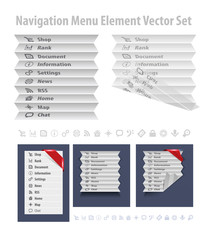 Folded navigation menu