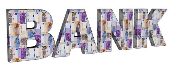 3D Geldschrift - BANK
