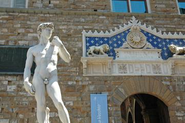 David di Michelangelo in Piazza della Signoria, Firenze, Italia