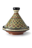 Traditional decorated  Moroccan tagine