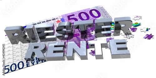 3D 500er Puzzle - Riester Rente
