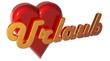 3D Herz - Urlaub