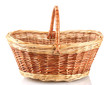 empty basket isolated on white