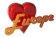 3D Herz - Europe
