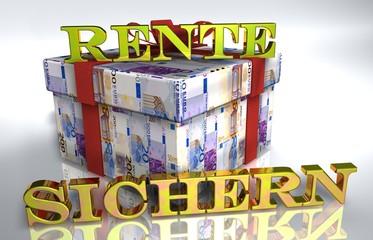 3D Geldgeschenk weiss - RENTE SICHERN