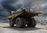 Fototapeta kopalnia - górnictwo - Ciężarówka