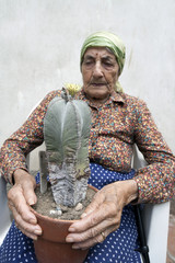 senior woman Cactus