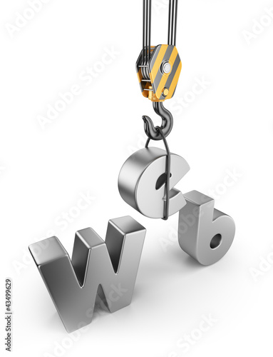 Construction web site. 3D Isolated on white background