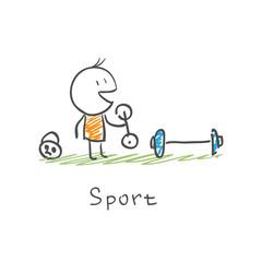 Man in sports