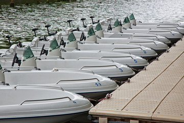 Pleasure Boats for Hire in a French water park