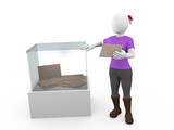 Ballot box woman