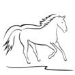 pferd outlines