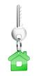 key with green key chain