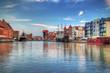 obraz - Harbor with crane ...