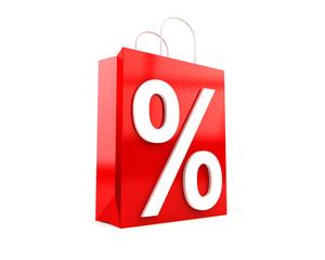 Prozent Tragetasche