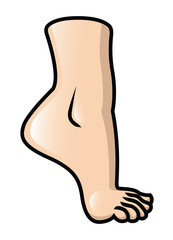 Foot On Tiptoe