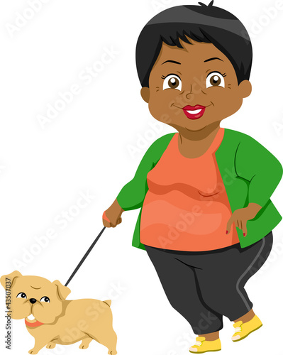 Senior Taking Dog for a Walk