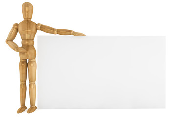 Wooden dummy with paper