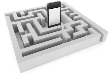 Mobile phone with labyrinth